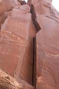 Rock Climbing Photo: Unknown wide crack. FUN!!!
