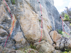 Rock Climbing Photo: Middle line in the photo