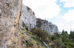 Rock Climbing Photo: The entirety of the 45 Wall, which includes the ro...