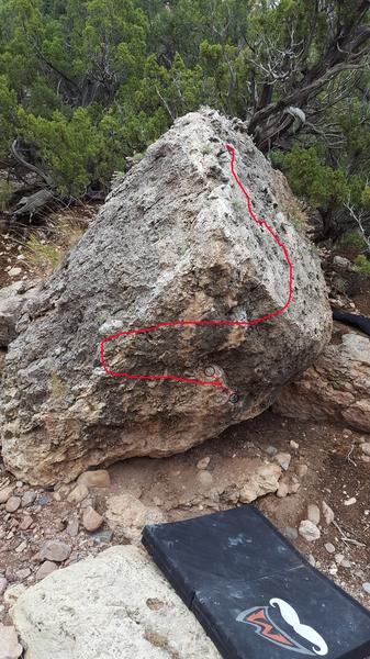 Rock Climbing Photo: Lucy's Butt Hole.