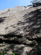 Rock Climbing Photo: Dike on Pitch 1 of Sunblessed. Notice the chain ha...