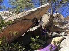 Rock Climbing Photo: Adrian on Yard Arm