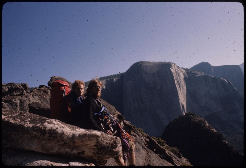 1975, with Doug Rodda after topping out. Came back to Camp 4 to find my car broken into and all my gear stolen.