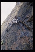 Rock Climbing Photo: 1975...note the PAs, homemade swami belt and leg l...
