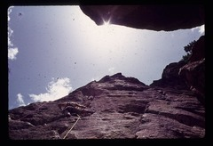 Rock Climbing Photo: 1975, Victor Creazzi leading...hexes and homemade ...