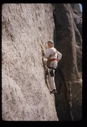 Rock Climbing Photo: 1974, homemade harness, painters pants, EBs, and h...