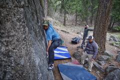 Rock Climbing Photo: fun slab moves
