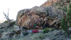 Rock Climbing Photo: Pulling through the crimp.