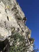 Rock Climbing Photo: Marc Tarnosky leading P7. He started out heading c...