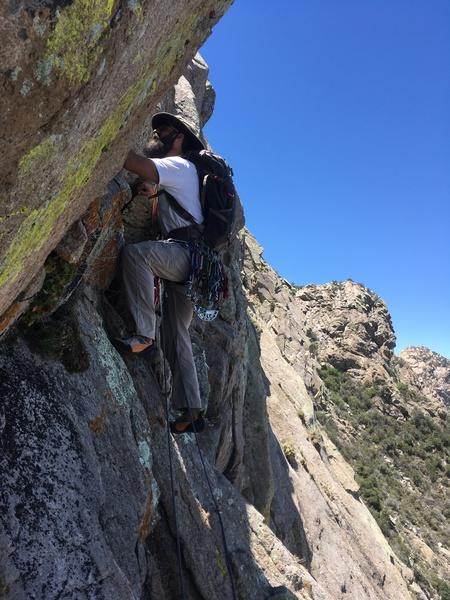 Rock Climbing Photo: Marc Tarnosky starting up P4.