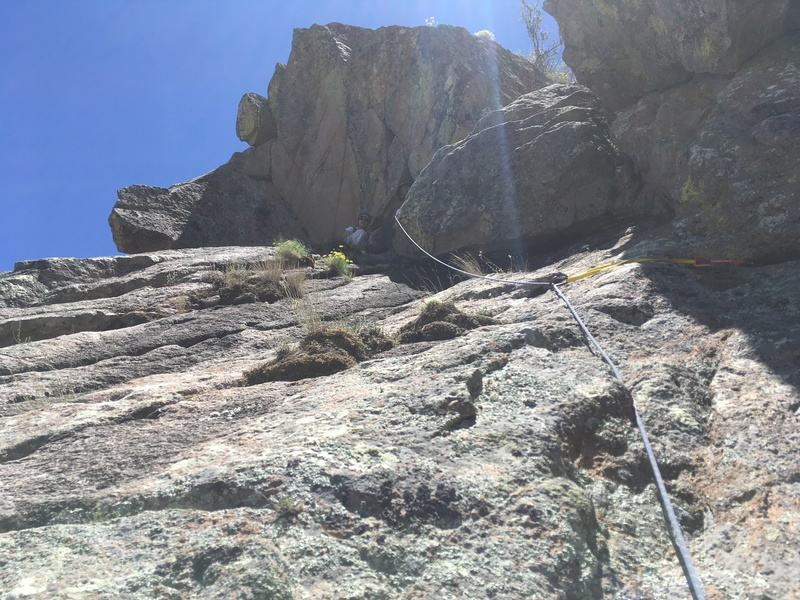 Marc Tarnosky and Marta Reece at the P2 belay.