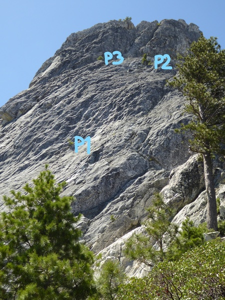 Rock Climbing Photo: First 3 pitches of Golden Opportunity. P4 and P5 a...