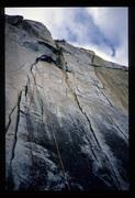 Rock Climbing Photo: The traverse move, around 1988. Blue-eyed Blonde g...