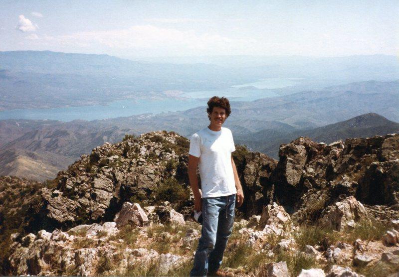 View of roosevelt lake atop browns peak summer<br> Around 1980