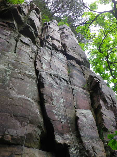 Rock Climbing Photo: Arm Overture & an unnamed 5.6