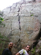 Rock Climbing Photo: Jon and Mason readying to run up the Bishop