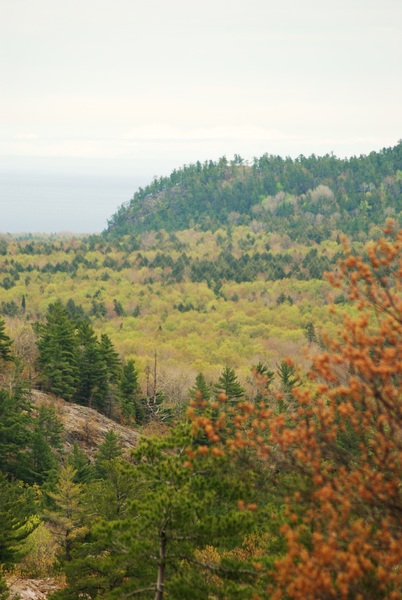 View from Ghost peak looking towards the lookout and Lake Superior