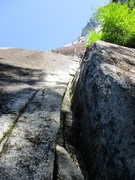Rock Climbing Photo: The 5.7 crack of Pitch 1 of The Great Drain.