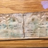 Perhaps the most interesting thing found in the original Low Horn 4 summit register: a torn-in-half receipt/pay-stub (?) for $200 from Fort Bliss. Presumably, this was left in the register by Bernard Topp, perhaps almost exactly two years prior to his infamous death on descent of Shiprock.