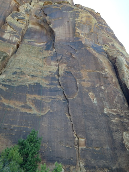 Rock Climbing Photo: Unknown crack climb, just right of Tom Stubb's Mem...