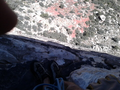 Rock Climbing Photo: Belay ledge at the top of pitch 2