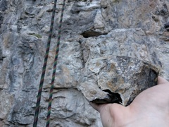 Rock Climbing Photo: Broke a hold near the first bolt May 28, 2017. Don...