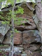 Rock Climbing Photo: Lost run lower left side.