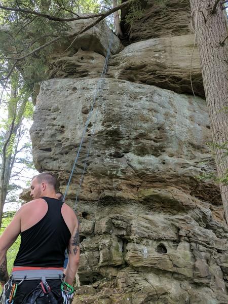 Rock Climbing Photo: same as beta photo but w/o markings