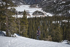 Rock Climbing Photo: High above South Lake, on the way to Lower Treasur...