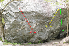 Rock Climbing Photo: (Red)= Red Cross