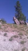 Rock Climbing Photo: Unassuming from below, the llama boulder has some ...