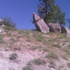 Unassuming from below, the llama boulder has some good stuff