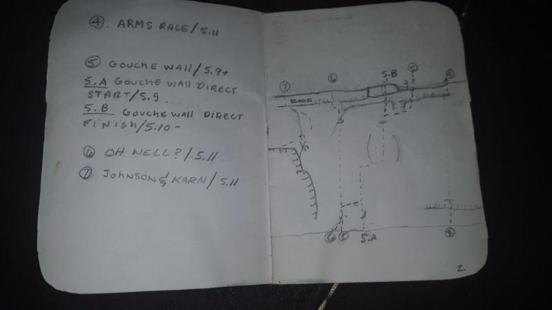 Guide for north side of Springfield Gorge circa 1985 continuation of main wall page 2
