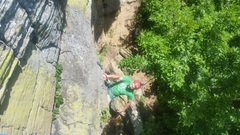 Rock Climbing Photo: Michael shakes out after pulling the strenuous but...