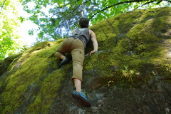 Rock Climbing Photo: Mantling on Gumby Slab