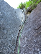 Rock Climbing Photo: Corner on second half of Pitch 1.