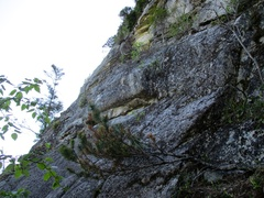 Rock Climbing Photo: The grungy 5.8 between Borderline and Angel's Cres...