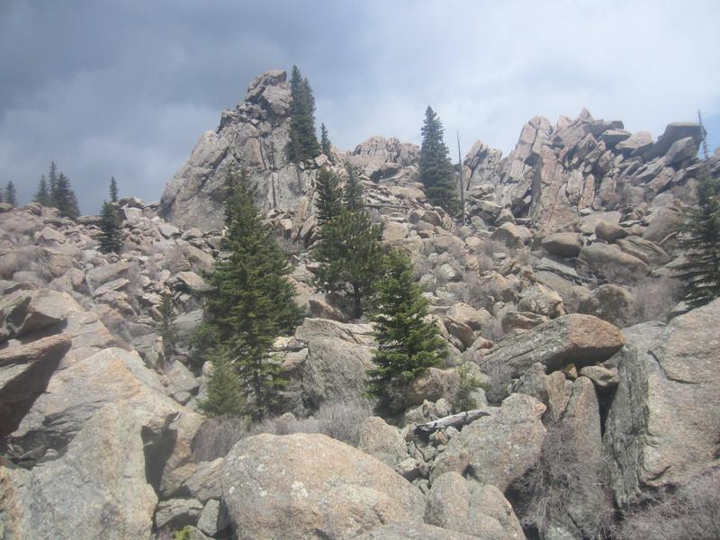Rock Climbing Photo: Main crag, looking right.