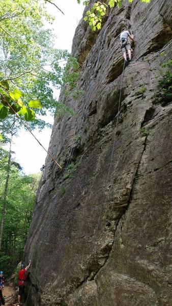 easy trad climbing.