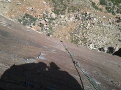 Rock Climbing Photo: Looking down pitch 5 from the chains