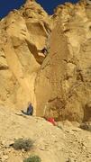 Rock Climbing Photo: The no-hands rest spot above the first crux on /De...