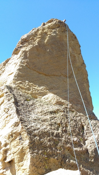 Rock Climbing Photo: Looking up at the rappel off of Mini Half Dome. Ou...