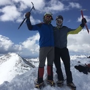 Rock Climbing Photo: Barrett and I on Torrey's Peak via Kelso Ridge (20...