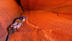 Rock Climbing Photo: Mini Cave Crack.