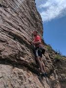Rock Climbing Photo: At the start of Ripple, 5.9.