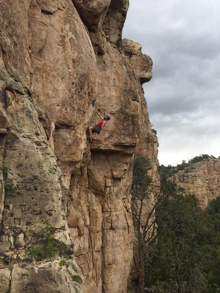 Rock Climbing Photo: At the crux bulge.