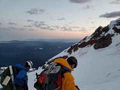 Rock Climbing Photo: looking down at the glacier