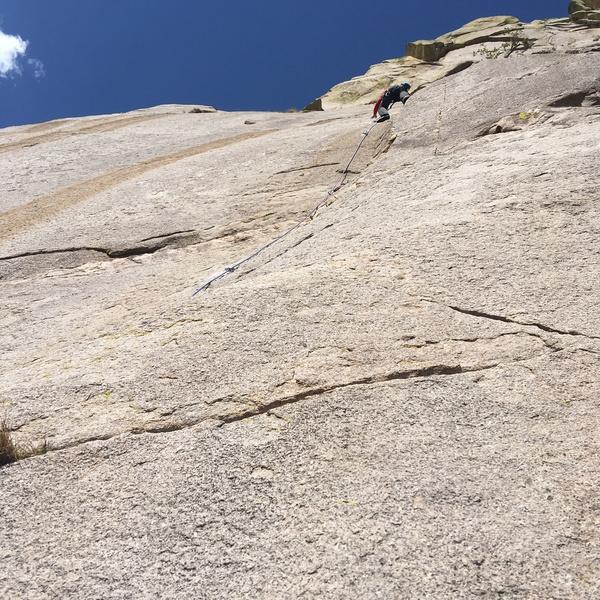 Rock Climbing Photo: 1st ascent, fresh dust in situ.