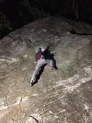 "Rock Climbing Photo: Fun night-time session, on the ""Barn Door Bou..."