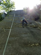 Rock Climbing Photo: TR set up for the first pitch. (5.8 I believe) Sun...